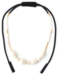 Marni - Black Fabric Necklace - Lyst