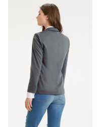 Oasis | Gray Clean Ponte Jacket | Lyst