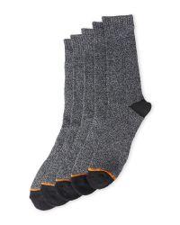 Weatherproof - Black 5-Pack Thermal Crew Socks for Men - Lyst