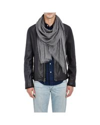 Barneys New York - Gray Cashmere Twill Scarf for Men - Lyst
