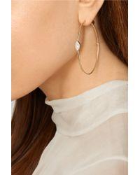 Jennifer Meyer - Metallic 18-karat Gold Diamond Hoop Earrings - Lyst
