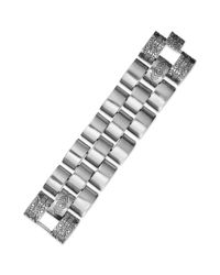 House of Harlow 1960 - Metallic Silvertone Engraved Brick Link Bracelet - Lyst