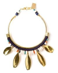 Lizzie Fortunato | Metallic Petal Charm Collar Necklace | Lyst