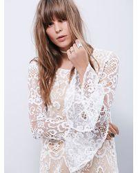Free People - White Lenni Womens Saga Dress - Lyst