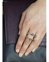 Smith/grey | Metallic The Cardinal Gold Plated Ring | Lyst