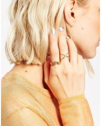 ASOS | Metallic Brass Fine Ring Pack | Lyst