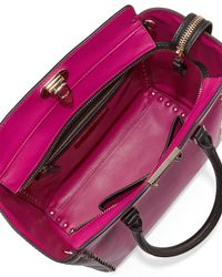 Valentino - Pink Rockstud Medium Shopper Bag - Lyst