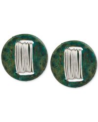 Robert Lee Morris - Green Silver-tone Wire-wrapped Patina Stud Earrings - Lyst