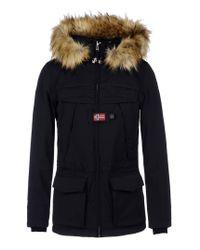 Napapijri | Black Mid-length Jacket | Lyst