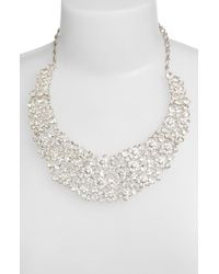 kate spade new york | Metallic 'boathouse' Crystal Bib Necklace - Clear | Lyst