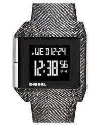 DIESEL - Black 'big Bet' Digital Bracelet Watch for Men - Lyst