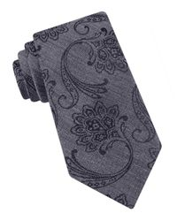 Ted Baker | Gray Silk Paisley Tie for Men | Lyst