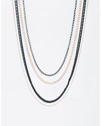 ASOS | Metallic Neck Chain Pack for Men | Lyst