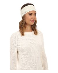 UGG | Natural Isla Lurex Cable Headband | Lyst