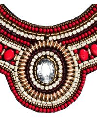 H&M - Red Beaded Necklace - Lyst