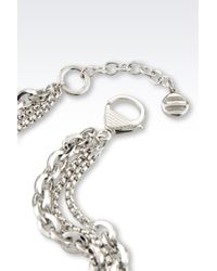 Emporio Armani | Metallic Bracelet In Steel And Mother-Of-Pearl | Lyst