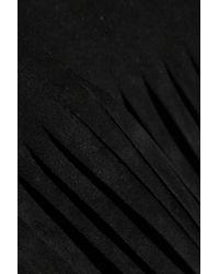 Valentino - Black Fringed Suede Poncho - Lyst