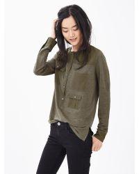 Banana Republic | Green Heritage Linen Cargo-pocket Shirt | Lyst