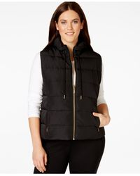 Calvin Klein | Black Plus Size Zip-pocket Puffer Vest | Lyst