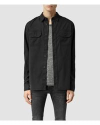 AllSaints | Black Elias Shirt for Men | Lyst