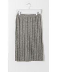 Designers Remix - Gray Isola Rib Knit Skirt - Lyst