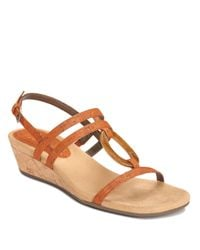 Aerosoles | Brown Alphabyet Strappy Wedge Sandals | Lyst