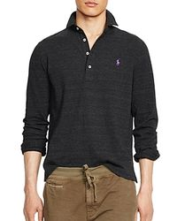 Ralph Lauren - Black Polo Long Sleeve Mesh Estate Shirt for Men - Lyst