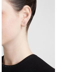 Yvonne Léon | Metallic Diamond Leaf Lobe Earring | Lyst
