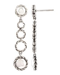 John Hardy - Metallic Palu Round Drop Earrings - Lyst