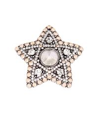 Lanvin | Metallic Elsie Star Crystal Ring | Lyst