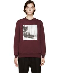 Yang Li - Purple Burgundy Key To Joy Sweatshirt for Men - Lyst