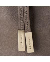 L.K.Bennett - Gray Betsey Leather Drawstring Bacg - Lyst