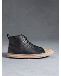 John Varvatos - Black Mick High Top Sneaker for Men - Lyst