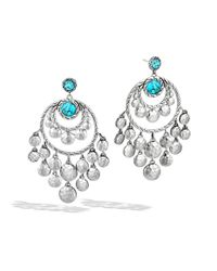 John Hardy - Blue Dot Chandelier Earrings - Lyst