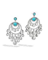 John Hardy | Blue Dot Chandelier Earrings | Lyst