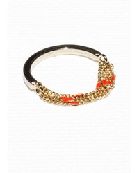 & Other Stories - Orange Dotted Chain Ring - Lyst