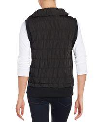 Calvin Klein - Black Funnel Quilted Vest - Lyst