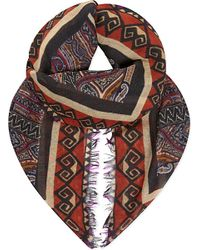 Etro | Orange Printed Cashmere Scarf | Lyst