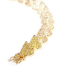 Eddie Borgo | Metallic Crystal Pavé Cone Bracelet | Lyst