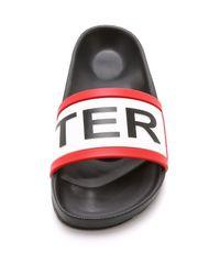 Hunter - Red Women's Slides - Lyst