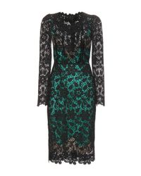 Dolce & Gabbana | Green Viscose Macramé Dress | Lyst