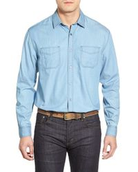 James Campbell | Blue 'collins' Regular Fit Sport Shirt for Men | Lyst