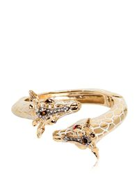 Roberto Cavalli - Metallic Giraffe Bracelet - Lyst