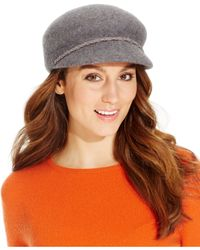 Nine West | Gray Felt Newsboy Hat | Lyst
