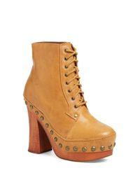 Jeffrey Campbell | Brown 'loki' Studded Platform Boot | Lyst