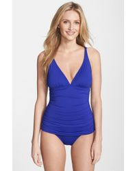 Tommy Bahama - Blue 'pearl' One-piece Swimsuit - Lyst