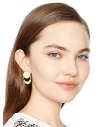 kate spade new york - Natural Sweetheart Scallops Studs - Lyst