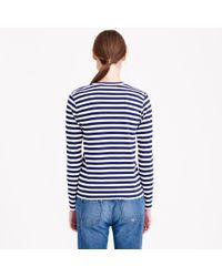 J.Crew   Blue Play Comme Des Garçons Stripe Heart T-shirt   Lyst
