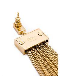Chloé | Metallic 'delphine' Earrings | Lyst