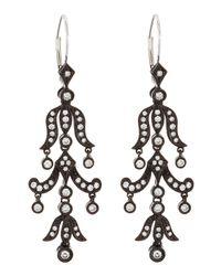 KC Designs - Black Diamond Chandelier Earrings - Lyst